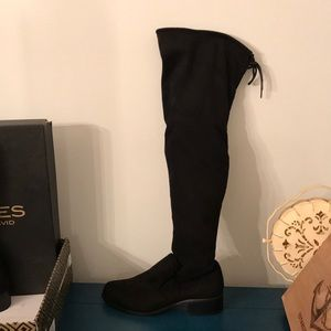 Black tie Charles David  over the knee boot